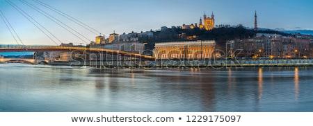 View of Lyon and Saone river at night Stock photo © vwalakte