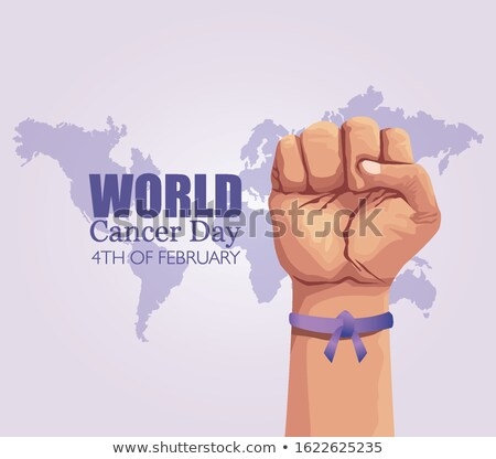 Human Solidarity Day illustration world map hands Stock photo © cienpies