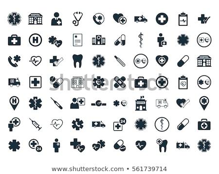 Hospital icon on a white background Stock photo © Imaagio