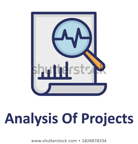Medical chart icon colored circles. Cardiogram report. Heart graph Stock photo © Imaagio