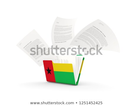 Dobrador bandeira Guiné arquivos isolado branco Foto stock © MikhailMishchenko