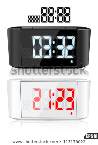 Alarm Clock Set Vector. Time. Early Wake Up. Deadline. Morning Ringing Watch. Classic, Electronic. I Stock photo © pikepicture