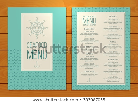 Ornate Fish Menu Concept for Seafood Restaurant Stock photo © robuart