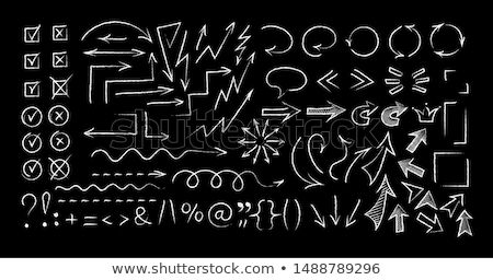Arrows and Pointers Checkmark and Cross Vector Stock photo © robuart