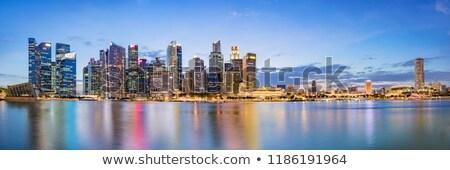 Cingapura centro da cidade linha do horizonte ver lugar barco Foto stock © joyr