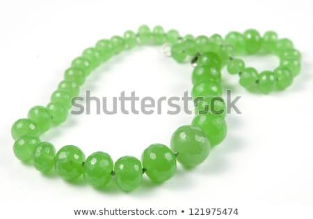 Beads from chrysoprase Stock photo © blackmoon979
