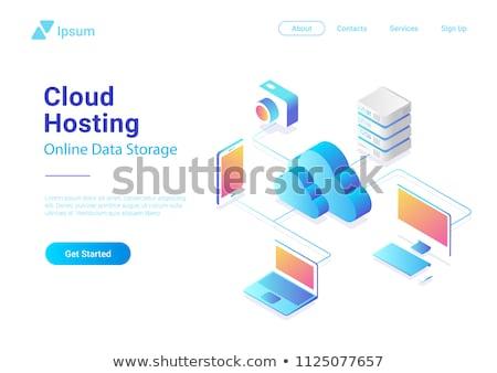 Сток-фото: иконки · облака · изометрический · Стрелки · различный