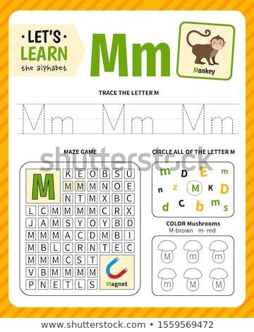 how to write letter M workbook for children Stock photo © izakowski