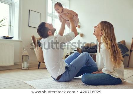 誇りに思う 父 赤ちゃん 娘 ストックフォト © Lopolo