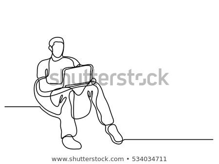 Programozós kézzel rajzolt skicc firka ikon program Stock fotó © RAStudio