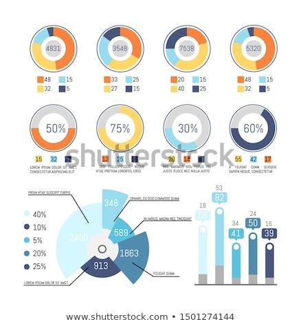 Taart diagram ingesteld procent numeriek informatie Stockfoto © robuart