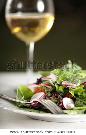 Diner champagne buitenshuis selectieve aandacht familie Stockfoto © dashapetrenko