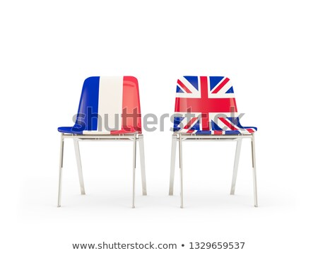 Two chairs with flags of France and united kingdom Stock photo © MikhailMishchenko