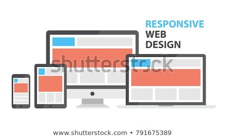 Teléfono portátil tableta sitio web vector Cartoon Foto stock © pikepicture