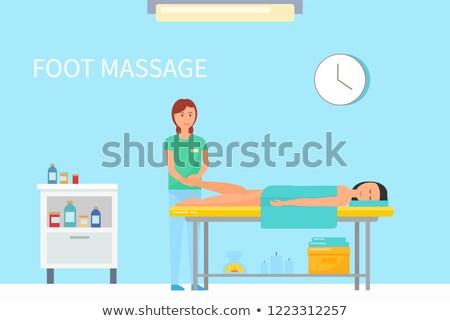 Foot Massage Done by Expert Masseuse Female Vector Stock photo © robuart