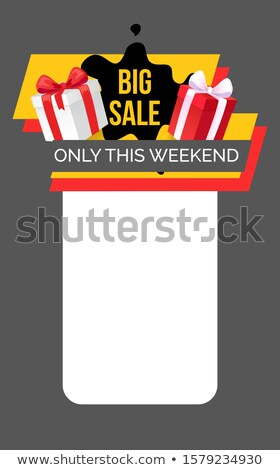 big sale only this weekend web page with gift box stock photo © robuart