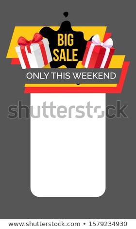 Grand vente week-end web page coffret cadeau Photo stock © robuart