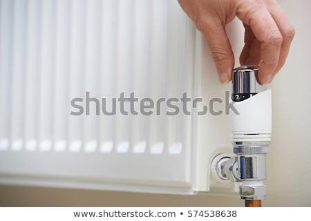 Centrale riscaldamento radiatore stanza muro vetro Foto d'archivio © magraphics