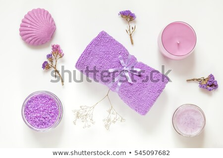 Wood violet flowers on a spoon, top view Stock photo © madeleine_steinbach