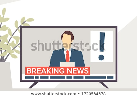 lcd · plasma · tv · preto · azul · tela - foto stock © designleo