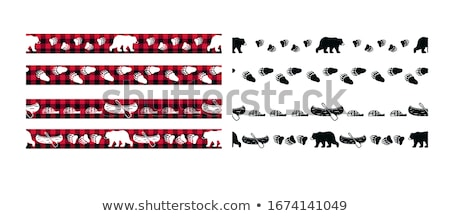 Border templates with grizzly bears Stock photo © colematt