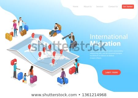 bevándorlás · emberek · világtérkép · család · világ · törvény - stock fotó © tarikvision