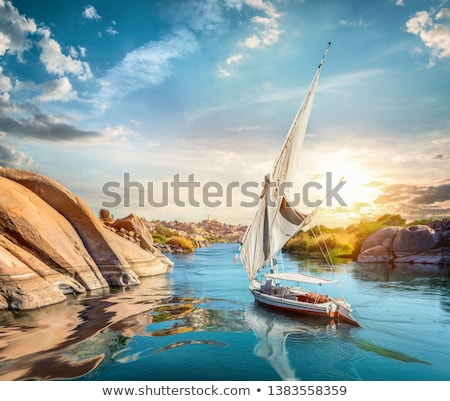 sunset in aswan stock photo © givaga