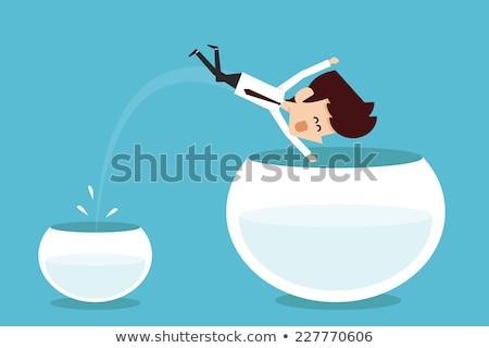 motiváció · üzletember · szó · lehetetlen · üveg · segítség - stock fotó © elnur