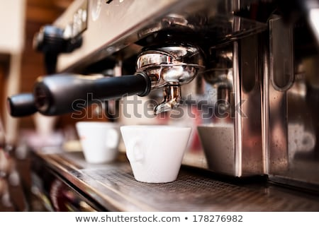 Espresso machine making coffee in pub, bar, restaurant  Stock photo © dashapetrenko
