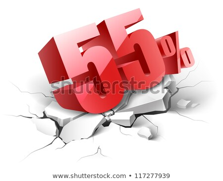 Fifty Five Percent Or 55 Marketing Offer Vector Stock photo © pikepicture