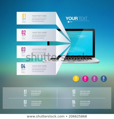 Technische ondersteuning presentatie graphics grafiek vector mannen Stockfoto © robuart