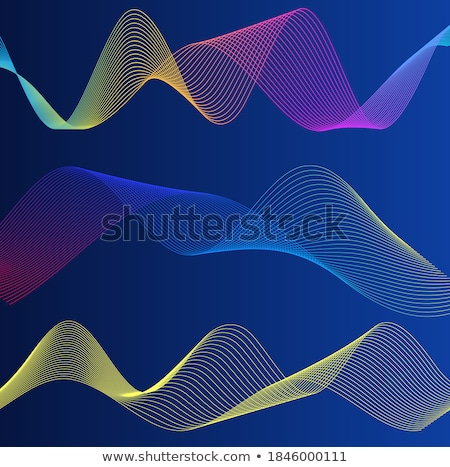 抽象的な 波状の 行 暗い 地図 芸術 ストックフォト © SArts