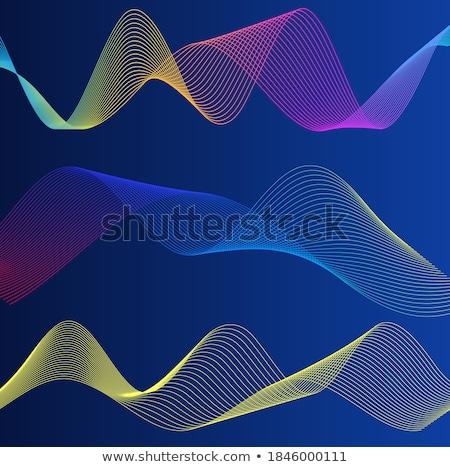 аннотация волнистый линия темно карта искусства Сток-фото © SArts