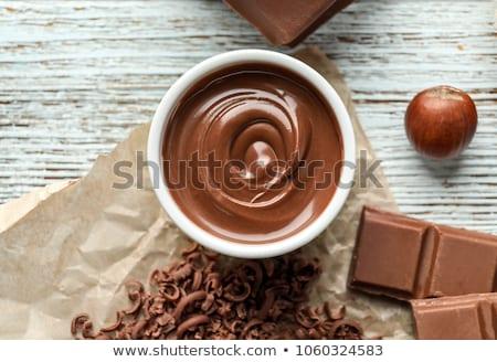 жидкость · темный · шоколад · чаши · 3d · визуализации · шоколадом - Сток-фото © tycoon