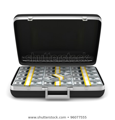 case with cash money on white background. Isolated 3D illustrati Stock photo © ISerg