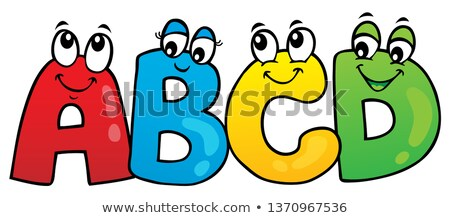 Cartoon ABCD letters theme 1 Stock photo © clairev