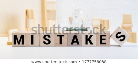 Person Erasing Mistake Word Stock photo © AndreyPopov