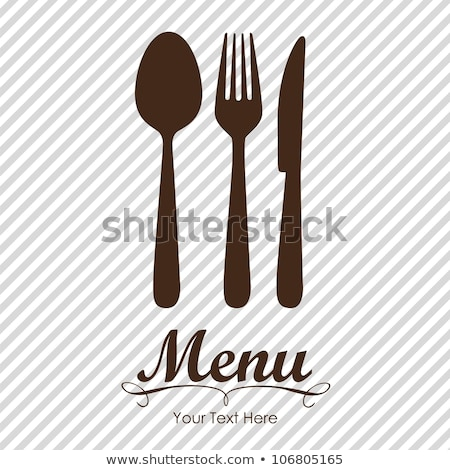 chef's hat with a knife, spoon and fork Stock photo © mayboro
