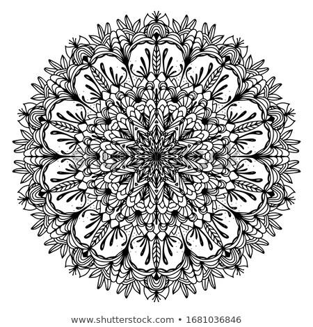 Stock fotó: Mandala · csipke · vektor · minta · klasszikus · terv