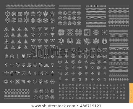 Esoteric, Alchemy, sacred geometry, tribal and Aztec, sacred geometry, mystic shapes, symbols Stock photo © marish