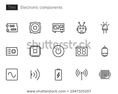 Electronic parts icons Stock photo © netkov1