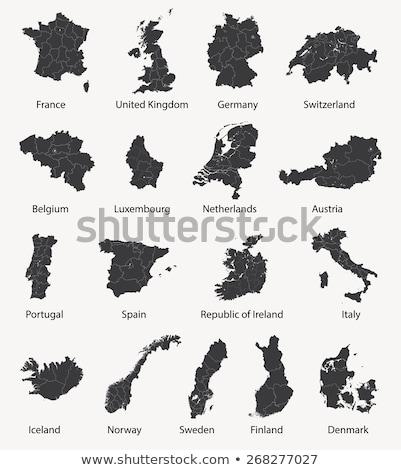 netherlands switzerland finland austria and denmark vector maps stock photo © conceptcafe