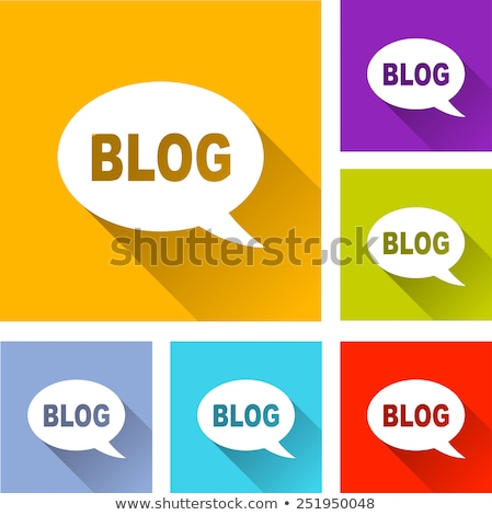 зеленый Блог икона высокий разрешение белый Сток-фото © kbuntu