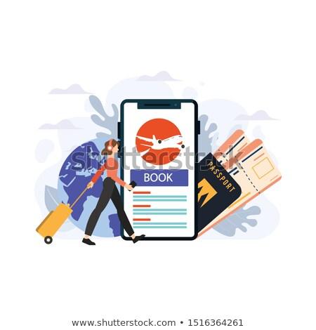 online · ticket · reis · ontwerp · stijl - stockfoto © tele52