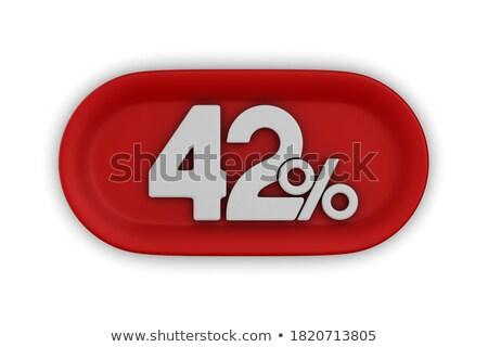 fourty two percent on white background isolated 3d illustration stock photo © iserg