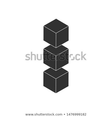 3D · ijs · Blauw · abstract · icon · business - stockfoto © kyryloff