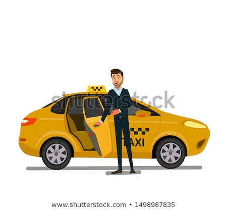 táxi · motorista · desenho · arte · feliz - foto stock © angelp