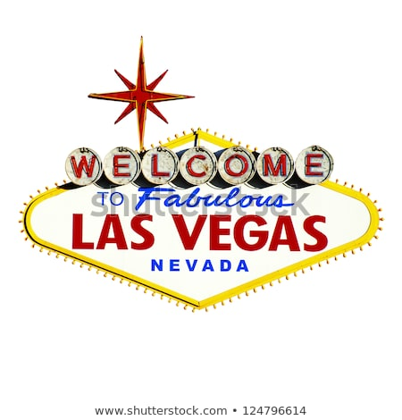 welcome to fabulous las vegas sign and palm trees Stock photo © dolgachov
