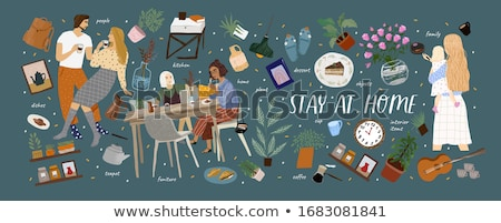 Person Cooking at Home, Set of Dishes Food Hobby Stock photo © robuart