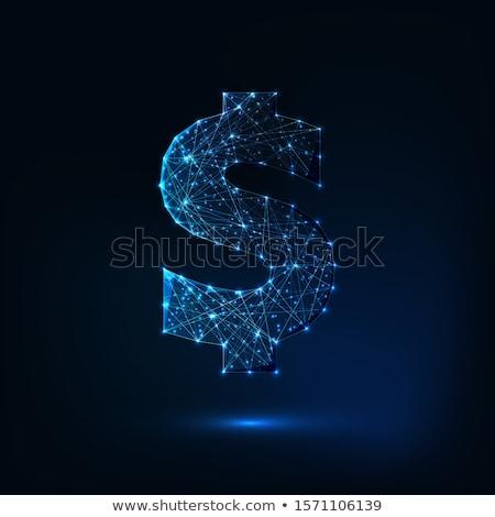 Dollárjel valuta szimbólum csillag alakú keret Stock fotó © robuart